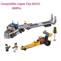 レゴ互換 トラック シティ 超高速レースカーとトレーラー 60151 乗り物 ミニフィグ付き LEGO風 ブロックセット 知育玩具