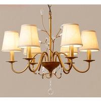 シャンデリア ベッドルーム リビング 寝室 ヨーロッパスタイル モダン ビンテージ LED 6ライト