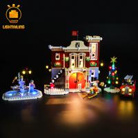 【LEDライトキット】 ウィンタービレッジ・ファイヤーステーション 10263 レゴ互換 消防署 【ライトアップセット】