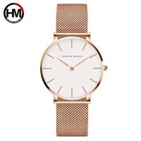 【Hannah Martin】レディース 腕時計 日本製クォーツ ステンレス 3690【2色】