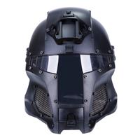 WoSport 2018 サバゲーヘルメット 戦術 防弾 軍事 フルフェイスマスク ペイントボール NVG エアガン シュラウド 戦闘ゲームや仮装に