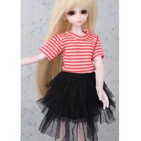 ドール衣装 球体関節人形 服 スカート 赤 黒 BJD カスタムドール かわいい おしゃれ 1/3 1/4 1/6 選べる3サイズ