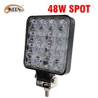 OKEEN ワークライト 車 LED 防水 IP67 4インチ 多用途 トラック 業務用 農業 ボート 取り付け簡単 48W 1個
