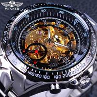 T-WINNER 腕時計 スケルトン メンズ 機械式 自動巻き 高級 レトロ ステンレス製 発光 海外トップブランド 人気 選べる3色