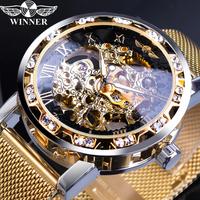 【T-WINNER】 腕時計 スケルトン メンズ 手巻き 機械式 発光 ルミナスハンズ 人気 高級 海外トップブランド 選べる4色