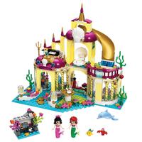レゴ互換 ディズニープリンセス アリエルの海の宮殿 41063 ブロックセット 互換品 LEGO風 マーメイド 知育玩具 383ピース