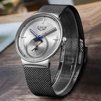 【LIGE】 2019 腕時計 メンズ 3気圧防水 日付表示 クォーツ 発光 ルミナスハンズ ラグジュアリー カジュアル 人気 高級 海外トップブランド 選べる4色