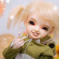 球体関節人形 かわいい 女の子 1/6 本体+眼球+メイクアップ済み キウイ BJD カスタムドール 美少女 ピース 選べる5色