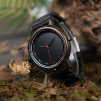 BOBO BIRD 木製腕時計 メンズ シンプル クォーツ アナログ 黒 ブラック P10 海外高級ブランド