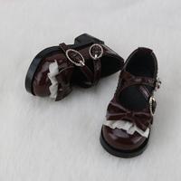 球体関節人形 革靴 ドールシューズ 1/4 BJD アクセサリー レザー カスタムドール 人形用 コーヒー 黒 白 選べる3色