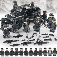レゴ特殊部隊車両 SWAT レゴ互換品 ミリタリー 車 軍用車 銃 ナイフ 武器 軍隊 兵隊 兵士 ミニフィグ LEGO風 ブロックセット