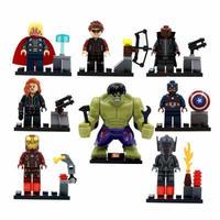 レゴ互換 アイアンマン ハルク スパイダーマン キャプテンアメリカ バットマン アベンジャーズ インフィニティウォー エンドゲーム ミニフィグ