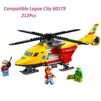 レゴ互換 シティ 救急ヘリコプター 60179 互換品 ミニフィグ付き LEGO風 ブロックセット