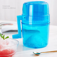 【きれいな水色】 かき氷機 手動 コンパクト 家庭用 アイスクラッシャー 【持ち運び便利】