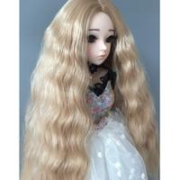 BJD ウィッグ ロング ウェーブ 明るい色 球体関節人形 カスタムドール 髪 かつら アクセサリー DD SD MSD YOSD おすすめ 選べる4サイズ