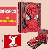 【レア物】 レゴ互換 スパイダーマンブック ミニフィグ52体付き ディスプレイブック アベンジャーズ LEGO風 知育玩具 【プレゼントにも】
