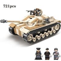 レゴ互換 戦車 三号突撃砲 Sturm-Geschutz III ドイツ軍 ミニフィグ+武器 第二次世界大戦 WW2 タンク 装甲車 戦争 兵士 兵隊 軍隊 ミリタリー LEGO風