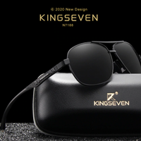 【N7188】 KINGSEVEN 2020 メンズ 偏光サングラス UV400 ポラロイド 高品質アルミニウムフレーム 海外トップブランド 高級 軽量 【選べる3色】