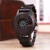 高級ブランド BOBO BIRD  海外 木製腕時計 ボボバード メンズ 日付表示 3ATM防水 高品質ミヨタクォーツ