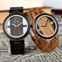 ボボバード 【BOBO BIRD】 木製腕時計 かっこいい ユニセックス レディース メンズ クォーツ 可愛い紙製の箱付き 黒 ブラウン 2色展開 Q19 木の温もり