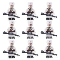 レゴ互換 ソビエト軍 冬 歩兵 ミニフィグ9体+武器セット ソ連 特殊部隊 ウィンター 兵士 兵隊 軍隊 LEGO風 ミリタリー
