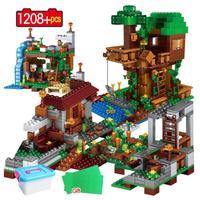 レゴ互換 マインクラフト ツリーハウス マイクラ ジャングルツリーハウス LEGO風 ブロックセット プラスチックボックス付き