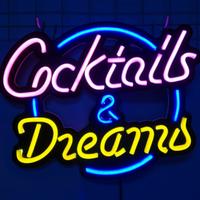 【ネオンライト】 バー 『Cocktails&Dreams』 BAR CLUB PUB 【ネオンサイン】