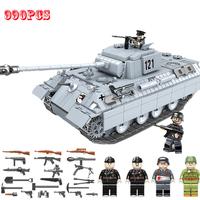 レゴ互換 戦車 PANTHER パンター パンサー ドイツ軍 ミニフィグ タンク 第二次世界大戦 WW2 戦争 兵士 ミリタリー LEGO風 知育 ブロック セット 990ピース