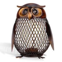 Tooarts フクロウ 貯金箱 ボックス 金属製 網 メッシュ コイン入れ 置物 オブジェ 動物 装飾品 工芸品 手作り プレゼントにも