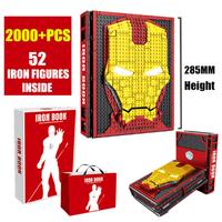 【ミニフィグ52体付き】 レゴ互換 アイアンマンコレクションブック ディスプレイブック アベンジャーズ LEGO風 知育玩具 海外 レア物 プレゼントにも 【入手困難】