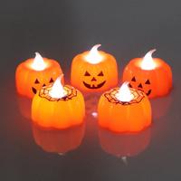 ハロウィン かぼちゃ くも キャンドル ライト 装飾 パンプキン デコレーション イベント クリスマス パーティーなどに 2種類 10個セット