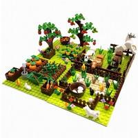 【レゴ互換】4in1 家畜(馬・牛)+果物+野菜+基礎板 豪華セット【LEGO風】