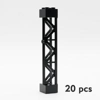 レゴ互換 柱 部品 軍事 アクセサリー パーツ テクニック 現場 LEGO風 ブロックセット 黒 9.7cm