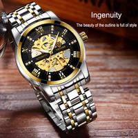 【TEVISE】 自動巻き 機械式 スケルトン メンズ腕時計 3気圧防水 ステンレス製 発光 ルミナスハンズ 海外トップブランド 選べる3色