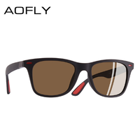 AOFLY 偏光サングラス 高性能 UV400 紫外線99%カット 軽量 スクエア クラシック 運転 釣り 登山 アウトドア サングラス メンズ 人気 かっこいい おしゃれ 選べる7色