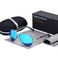 【パイロット】 BARCUR サングラス メンズ 高級 偏光レンズ UV400 ポラロイド 軽量 ライブ ドライブ 運転 ビーチ アウトドア 旅行 釣り 海外トップブランド 【選べる3色】