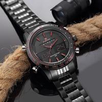 NAVIFORCE メンズ腕時計 スポーツ クロノグラフ アラーム 防水 3気圧 暗所で発光 日付 曜日表示 クォーツ デュアルタイム 海外高級ブランド