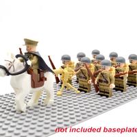 レゴ ソビエト軍 ミニフィグ10体+馬+機関銃+ライフル+バックパック ソ連軍 特殊部隊 レゴ互換品 兵隊 軍隊 第二次世界大戦 WW2 LEGO風