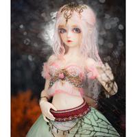 BJD 球体関節人形 手作り 女性 本体+眼球+メイクアップ済み 女の子  1/4 アリス カスタムドール 美しい ホワイト ノーマル 2色