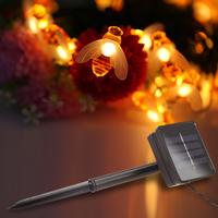 ソーラーライト 屋外 防水 IP65 みつばち 夜間自動点灯 イルミネーションライト 明るい 庭 ガーデン ベランダ LED ハロウィン クリスマス おすすめ 可愛い おしゃれ 人気 20個セット