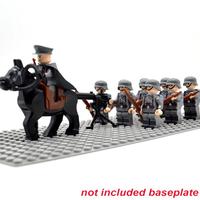 レゴ ドイツ軍兵士 ミニフィグ10体+馬+機関銃+ライフル+バックパック 特殊部隊 レゴ互換品 兵隊 軍隊 第二次世界大戦 WW2 ミリタリー LEGO風