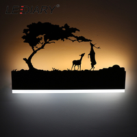 ウォールランプ モダン レトロ 選べる5種類 ベッドサイドランプ LED 寝室 リビング ダイニング 室内 壁 インテリア 黒 鹿 象 観覧車 ホリデー 恐竜