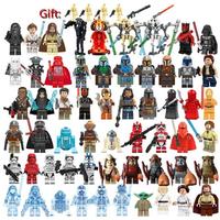 スターウォーズ ミニフィグ 58体+バトルドロイド レゴ互換 大量セット STAR WARS フィギュア 人形 武器 大人気 映画グッズ LEGO風 プレゼント付き★