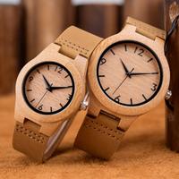 【DODO DEER】竹製腕時計 バンブーウォッチ 革ベルト メンズ&レディース B13 クォーツ【2サイズ】