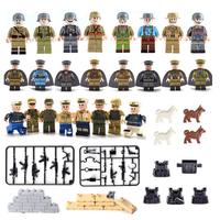 レゴ互換 ミリタリー 兵士 兵隊 馬 銃 ミニフィギュア+武器セット