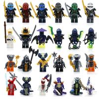 レゴ互換 ニンジャゴー ミニフィグセット 24ピース カタナ 剣 斧 武器 Ninjago ブロックセット LEGO風 知育玩具 プレゼントにもおすすめ★