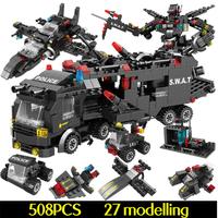 レゴスワットセット 互換品 変形可能 ヘリコプター トラック 車両 車 ロボット SWAT 特殊部隊 ミリタリー 警察 LEGO風
