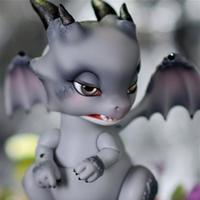 球体関節人形 動物 ドラゴン 1/6 本体+眼球 ノーメイク BJD カスタムドール 龍 竜 かわいい 眠たそうな可愛い目 選べる4色