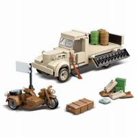 【日本軍】 レゴ互換品 軍用トラック ミニフィグ3体付き★ 戦争 ブロックセット WW2 第二次世界大戦 LEGO風 乗り物 【プレゼントにも】