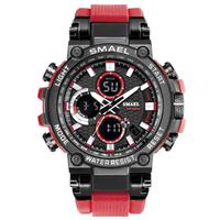【50m防水・多機能】 SMAEL ミリタリーウォッチ メンズ腕時計 LED デジタル クォーツ 1803 人気 【選べる3色】